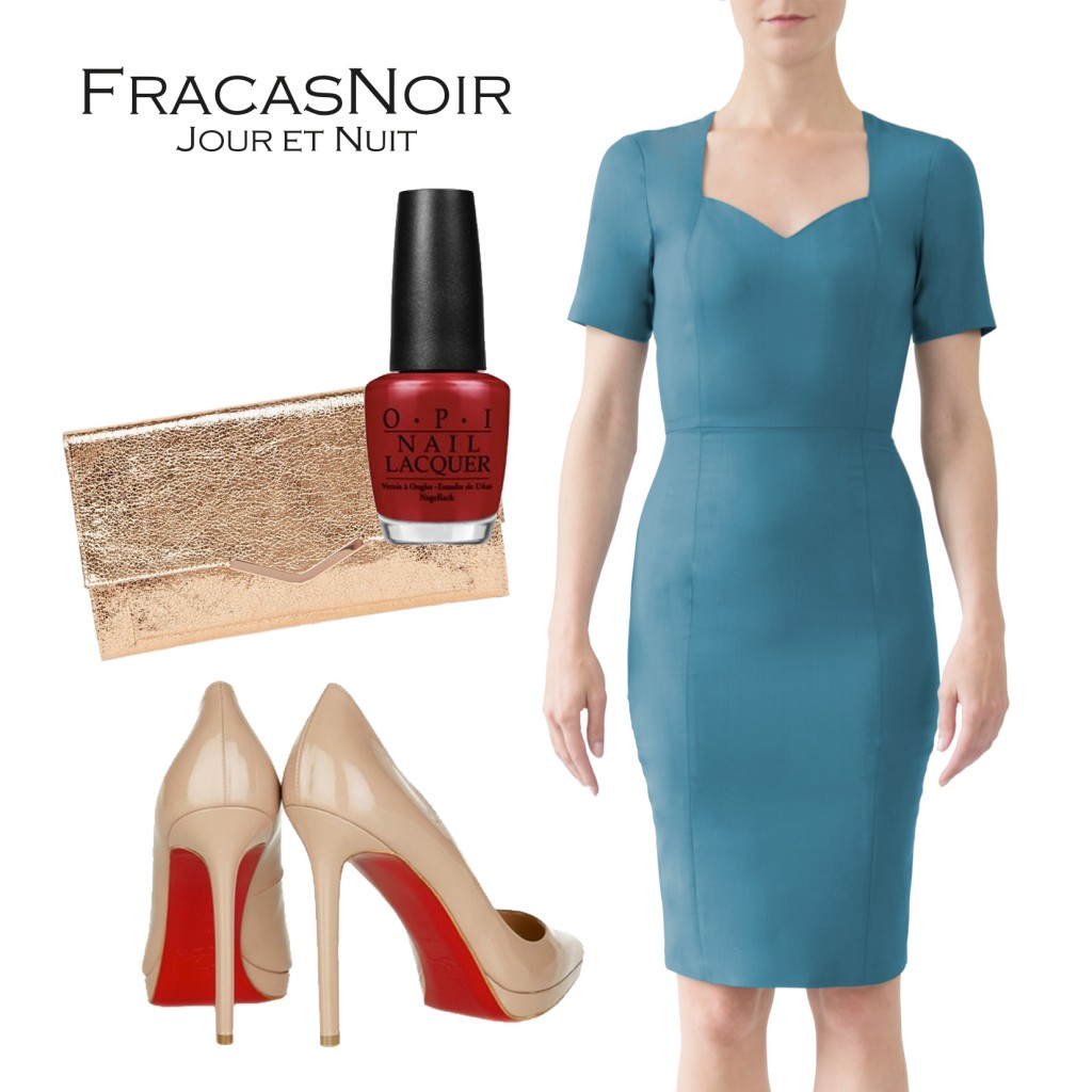 FN1 dress mix match nude red